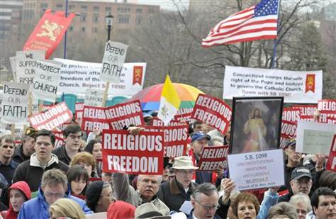 Image: Catholics protest